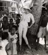 From a shoot in Papua New Guinea, 1961-66. Henry Talbot Fashion Photography Archive. Copyright Lynette Anne Talbot
