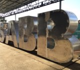 The aluminium letters were fabricated at a Sumner workshop.