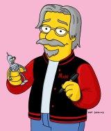 Simpsons creator Matt Groening in animated form.