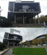 Photographs taken with the G5's regular megapixel camera, top, and the 8MP wide angle lens, bottom.