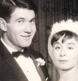Jeanne and Richard Pratt on their wedding day in 1959