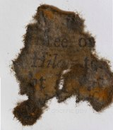 A piece of paper from books found on board Blackbeard's ship the Queen Anne's Revenge.