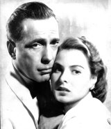 Humphrey Bogart and Ingrid Bergman in <i>Casablanca</i>.