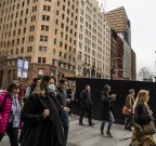 People walking in Martin Place, Generic mask, employment, work, CBD, city. Coronavirus COVID-19 Pandemic. 7th August 2020 Photo Louise Kennerley SMH
