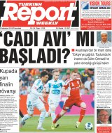 """Has a witch-hunt started?"" Front page of Turkish Report Weekly in Melbourne last month."
