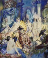 "Norman Lindsay's 1934 Belshazzar watercolour is part of the Howard Hinton Collection. ""The collection provides an invaluable snapshot of the vibrant art community of the era."""