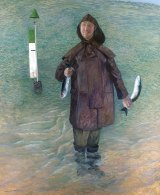 Robinson's <I>Self-portrait with Stunned Mullet</i>, which won the artist his second Archibald Prize in 1995.