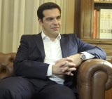 """Greek Prime Minister Alexis Tspiras  after Greeks voted overwhelmingly """"No"""" in a historic bailout referendum."""