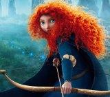 Merida the female protagonist in the Disney film Brave