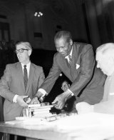 Paul Robeson at Sydney Town Hall on 11 November 1960.