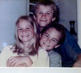 Angie, 8, Steven (top), 12, and Brent Greene, (right), 10.