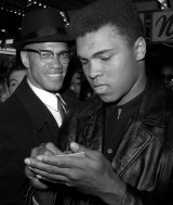 Ali with Malcolm X in 1964.