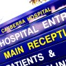 Why has a Canberra hospital ward not been used by patients for more than two years?