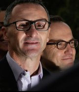 Greens MP Adam Bandt (right) lost the deputy leadership in 2015.