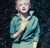 Marilyn Monroe at her home in Palm Springs, 1954.