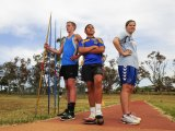Joseph Kremer,15, of Goulburn, Taumasina Amon,13, of Michelago and Kiarna Woolley-Blain,12, of Merimbula will represent the ACT at the Australian Little Athletics Championships in Perth.