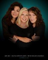 Amy Sky, Olivia Newton-John and Beth Nielsen Chapmanon the cover of album <I>Liv On</i>.