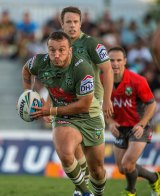 Canberra's Josh Hodgson in action during a match watched on TV by more than 450,000 people in Sydney and Brisbane.