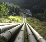 Water pipes for a hydro electric plant.