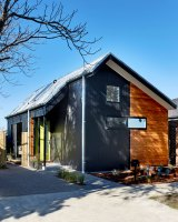 A 56-square-metre home in Geelong by Small Change Design and Construction.