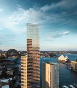 The mixed-use scheme is located at No. 1 Alfred Street on Circular Quay, and incorporates a five-star Wanda Vista Hotel, 190 exclusive private residences, and boutique retail premises