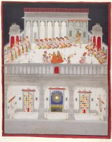 Bakhta's Maharana Ari Singh II in durbar 1765.