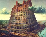 Bruegel's Tower of Babel. Had Google been around, the Old Testament would have been significantly different.
