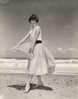 Patricia Shmith at the beach 1950s