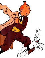 Tintin and his dog Snowy, by Georges Remi.