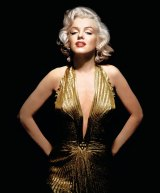 The gold lame gown, designed by William Travilla, which Marilyn wore in Gentlemen Prefer Blondes.