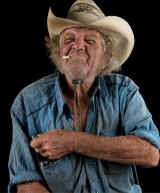 A portrait of Kandos elder Brian Webster by Mervyn Bishop for his show at Cementa.