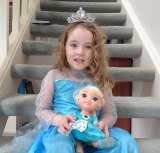 Call me Elsa: Alafair Korohina Wall, 4, is all about Elsa and Frozen.