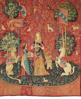"""""""Smell"""" from The Lady and the Unicorn tapestry series, c1500"""