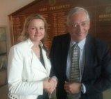 Councillor Rosalie Crestani with Lord Christopher Monckton.