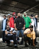 "Wu-Tang Clan's ambitious project of a one-off album <i>Once Upon a Time in Shaolin</i> has reportedly been sold for ""millions"". Founder and project spokesman RZA is at the far right (with the white sweat band)."