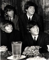 The Beatles give a press conference during their 1964 Australian tour.