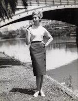 A Sportscraft shot was taken at the Yarra River near Princes Bridge, 1961. Henry Talbot Fashion Photography Archive. Copyright Lynette Anne Talbot