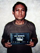 Panama's former dictator Manuel Noriega in Miami, after his arrest by US Drug Enforcement Agency agents, 1990.