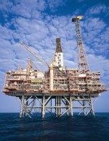An LNG gas rig sits 150 kilometres  off the West Australian coast.