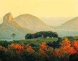 A volcanic plug of the Glasshouse Mountains near Maleny, Queensland.