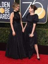Sarah Paulson, left, and Amanda Peet.