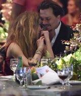 Amber Heard and Johnny Depp in January.