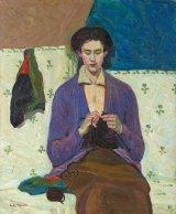 Grace Cossington Smith's <i>The sock knitter</i>, 1915.