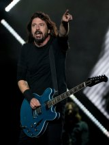 Dave Grohl on stage in Mexico City last year.