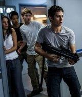 Kaya Scodelario, Ki Hong Lee, Thomas Brodie-Sangster and Dylan O'Brien in <i>Maze Runner: The Scorch Trials</i>.