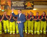 Support: Dan Andrews got strong support from the Victorian Firefighter's Union.
