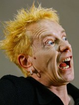 John Lydon, AKA Johnny Rotten of the Sex Pistols.