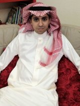 Gruesome punishment: Raif Badawi at home in Saudi Arabia in 2012.