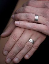 The rings on the hands of Tim Wilson and Ryan Bolger.