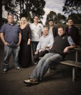 Ken, Jacqui Seamark, Oscar, David Nugent, Micah, Nathan, Sasko - participants in an anti-violence program featured in the ABC documentary <i>Call Me Dad. </i>